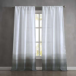French Connection Olivia Dip-Dye 2-Pack Rod Pocket Window Curtain