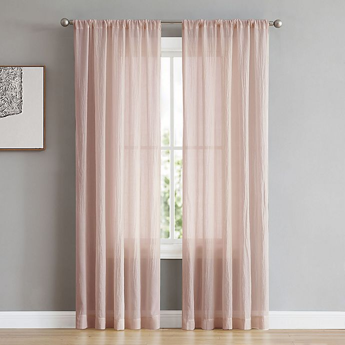 Alternate image 1 for French Connection Rosa 96-Inch Rod Pocket/Back Tab Window Curtain Panel Pair in Rose Smoke