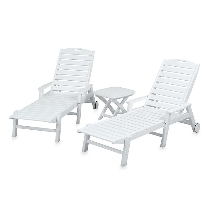 Alternate image 1 for POLYWOOD® Nautical 3-Piece Chaise Set