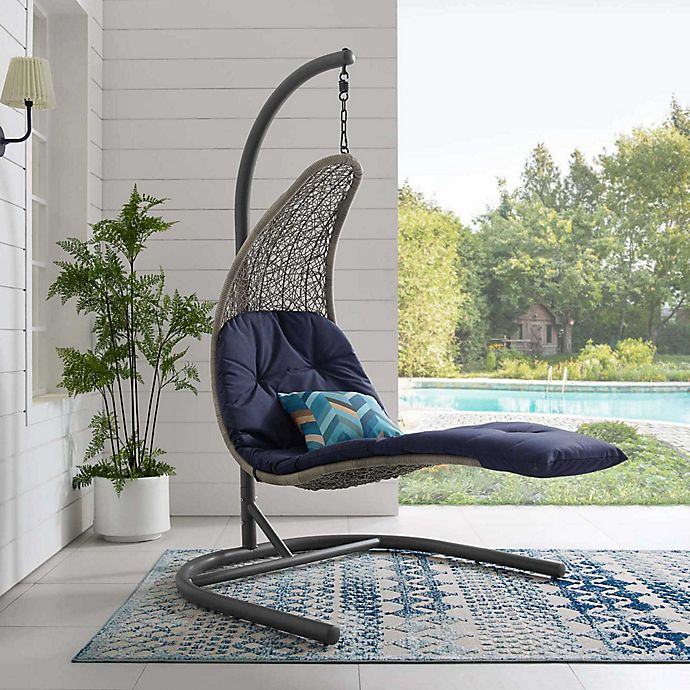 Modway Landscape Outdoor Patio Hanging Chaise Lounge Swing Chair Bed Bath Beyond