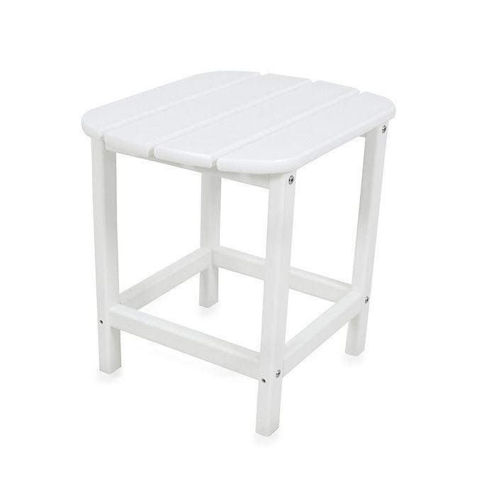 Alternate image 1 for POLYWOOD® Folding Adirondack Side Table in White
