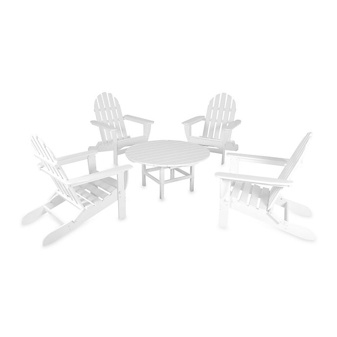Alternate image 1 for POLYWOOD® Adirondack 5-Piece Outdoor Conversation Set in White