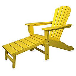 POLYWOOD® South Beach Ultimate Adirondack Chair with Ottoman
