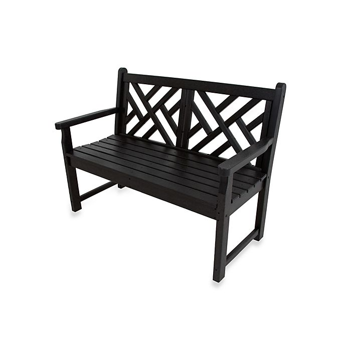 Buy Polywood 174 Chippendale Bench In Black From Bed Bath