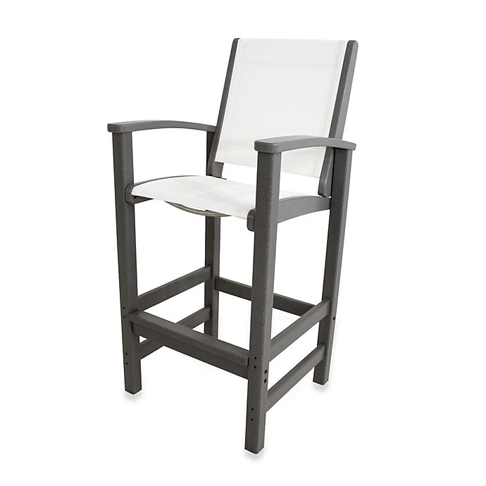 Buy Polywood 174 Coastal Bar Chair In Slate Grey White From