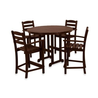 Polywood 174 La Casa 5 Piece Outdoor Counter Height Table Set