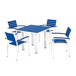 POLYWOOD® Euro 5-Piece Textured Outdoor Dining Set