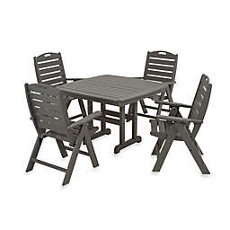 POLYWOOD® Nautical 5-Piece Outdoor Dining Set