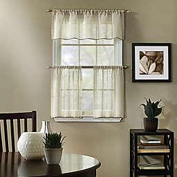 Linden Kitchen Curtain Tier Pair and Valance