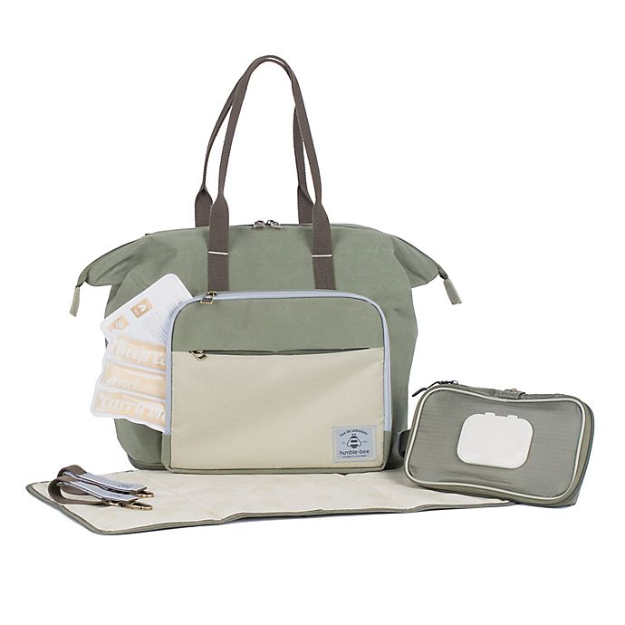 Alternate image 1 for Humble-Bee™ Boundless Charm Convertible Backpack Diaper Bag in Olive/Dusk