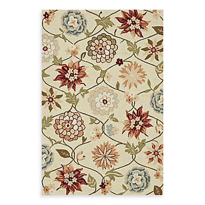 Loloi Rugs Summerton Floral 2'3 x 3'9 Accent Rug in Ivory