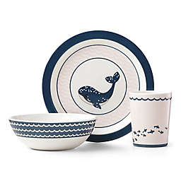 Reed & Barton Mystic Sea™ Whale 3-Piece Melamine Child's Place Setting