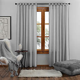 UGG® Riley 95-Inch Tab Top Window Curtain Panel in Charcoal