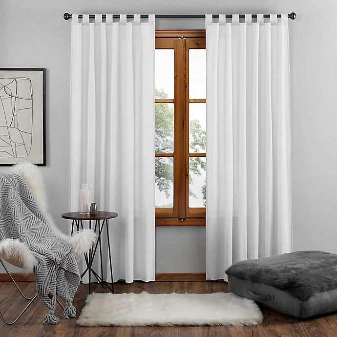 Alternate image 1 for UGG® Riley 63-Inch Tab Top Window Curtain Panel in Bright White (Single)