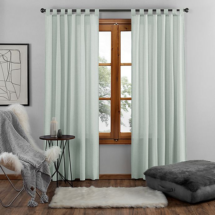 Alternate image 1 for UGG® Riley 108-Inch Tab Top Window Curtain Panel in Agave