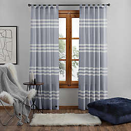 UGG® Riley Stripe 108-Inch Tab Top Window Curtain Panel in Denim