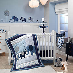 Lambs & Ivy® Indigo Elephant Crib Bedding Collection