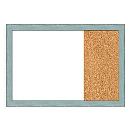 Amanti Art Sky Blue Rustic 29-Inch x 20-Inch Framed White Dry Erase and Cork Combo Board
