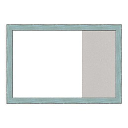 Amanti Art Sky Blue Rustic 29-Inch x 20-Inch Framed White Dry Erase and Grey Cork Combo Board