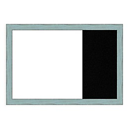 Amanti Art Sky Blue Rustic 29-Inch x 20-Inch Framed White Dry Erase and Black Cork Combo Board