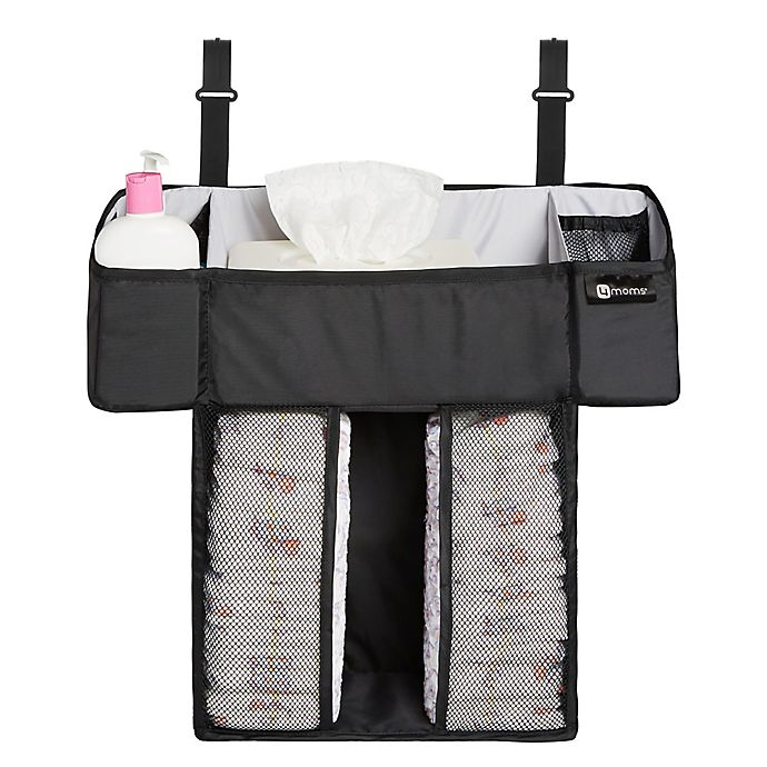 Alternate image 1 for 4moms® breeze® Diaper Storage Caddy in Black
