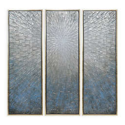 Silver Ice 20-Inch x 60-Inch Canvas Wall Art (Set of 3)