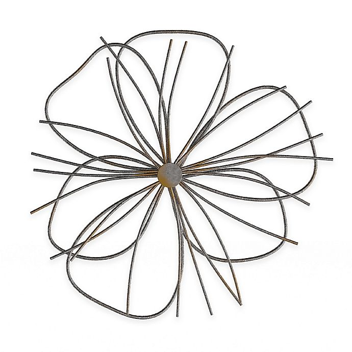 Lavish Home Wire Flower Metal Wall Art