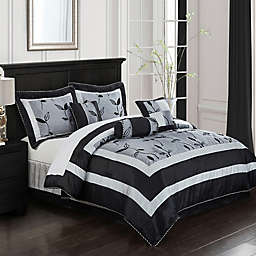 Nanshing Pastora Queen Comforter Set in Silver