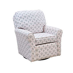 The 1st Chair™ Shelby Swivel Glider Chair in Pink Dust
