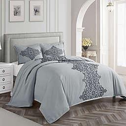 Nanshing Essex 3-Piece Queen Duvet Cover Set in Grey