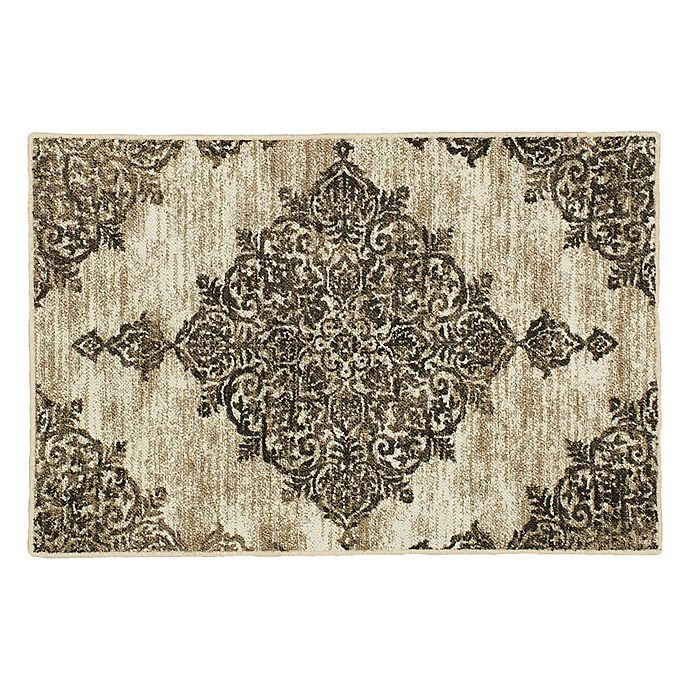 Alternate image 1 for Mohawk Home Richmond Medallion Washable Rug in Grey