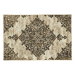 Mohawk Home Richmond Medallion Washable Rug in Grey