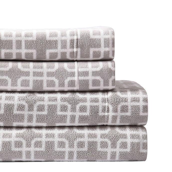 Morgan Home Ultra Plush Fleece Trellis Sheet Set | Bed Bath & Beyond