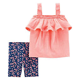 carter's® Ruffle Tank and Short Set in Orange