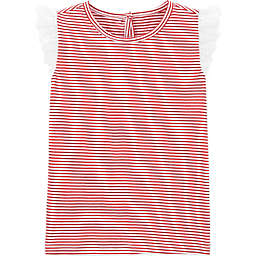 OshKosh B'gosh® Striped Flutter Sleeve Toddler Shirt in Red