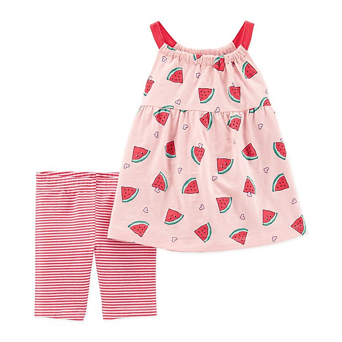 Alternate image 1 for carter's® Watermelon Top and Short Set in Pink