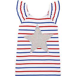 OshKosh B'gosh® Striped Flutter Sleeve Top in White