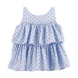 OshKosh B'gosh® Chambray Clip Dot Top