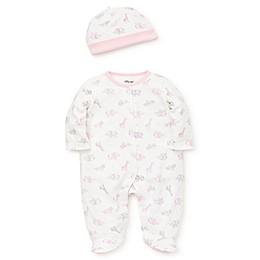 Little Me® Preemie 2-Piece Safari Girl Footie in Pink