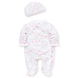 Little Me® Preemie 2-Piece Watercolor Floral Footie in Pink
