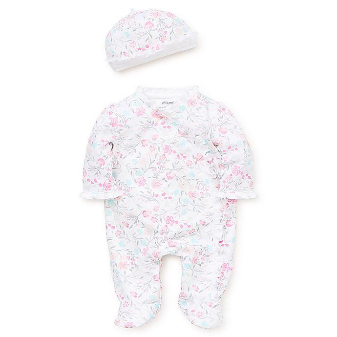 Alternate image 1 for Little Me® Preemie 2-Piece Watercolor Floral Footie in Pink
