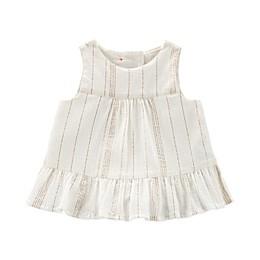 OshKosh B'gosh® Ruffle Chambray Shirt in White