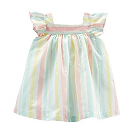 OshKosh B'gosh® Striped Dress with Diaper Cover