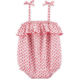 OshKosh B'gosh® Ruffled Floral Romper in Pink