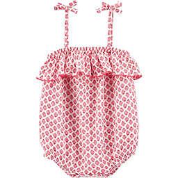 OshKosh B'gosh® Ruffled Floral Romper in Pink