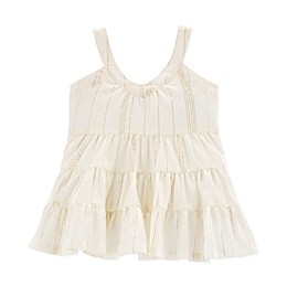 Oshkosh B'gosh® Tiered Crinkle Gauze Dress