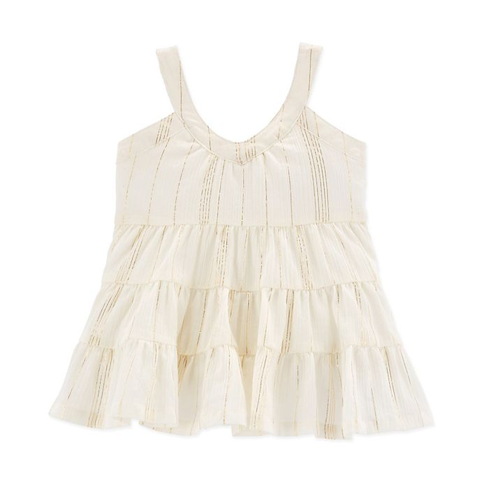Alternate image 1 for Oshkosh B'gosh® Tiered Crinkle Gauze Dress