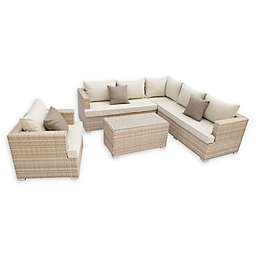 Pangea Home Oasis 5-Piece Outdoor Sofa Set