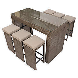 Pangea Home Oasis 7-Piece Outdoor Bar Table Set