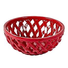 Modern Farmhouse Home™ Christmas Bread Basket in Red